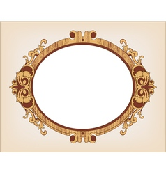 Decorative oval vintage frame vector