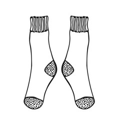 Doodle socks black and white for vector