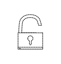 dotted shape padlock object symbol to security vector image vector image