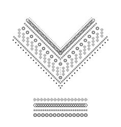 Ethnic pattern set vector image