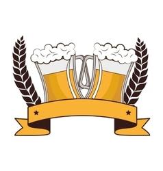 Fresh beer drink icon vector