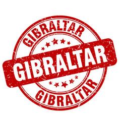 Gibraltar red grunge round vintage rubber stamp vector
