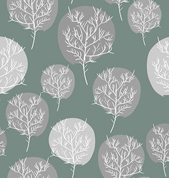 Gray abstract trees seamless background pattern vector