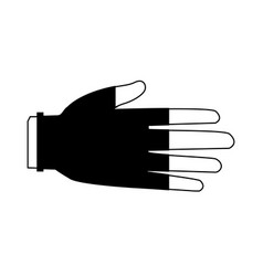 Hand protective rubber gloves medical icon vector