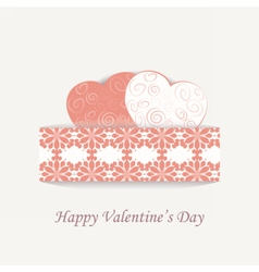 Happy valentines day lace card vector