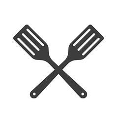 Icon two Kitchen shovels scapulas or Fry shovels vector image