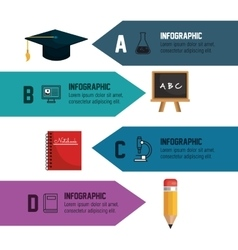 Infographic education school banner isolated vector