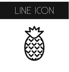 Isolated pineapple outline dessert element vector
