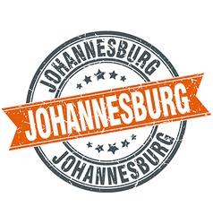 Johannesburg red round grunge vintage ribbon stamp vector