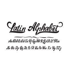 latin alphabet hand made font for your design vector image vector image