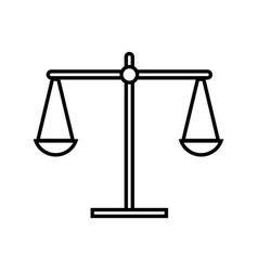 Line balance kilogram instrument object design vector