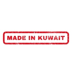 Made in kuwait rubber stamp vector