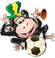 Monkey the fan vector image