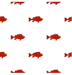 Red betta fish pattern seamless vector