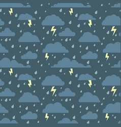 Seamless pattern with stormy sky vector