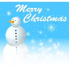 snowman with snowman vector image vector image
