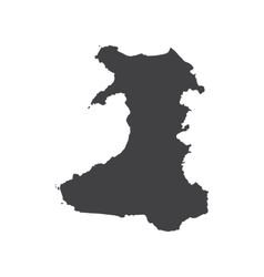 Wales map silhouette vector image vector image