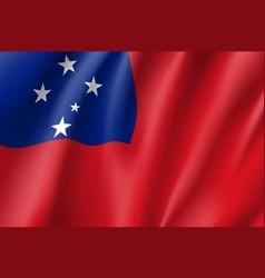 Waving flag of samoa vector