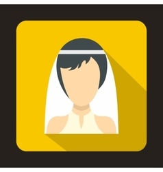 Bride icon in flat style vector