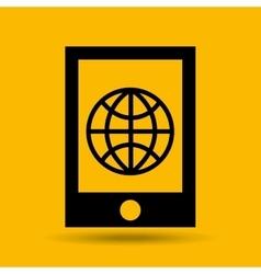 Device transfer cloud global world vector