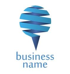 blue logo vector image