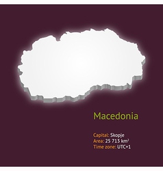 3d map of macedonia vector