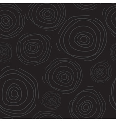 Abstract circle dark seamless pattern vector