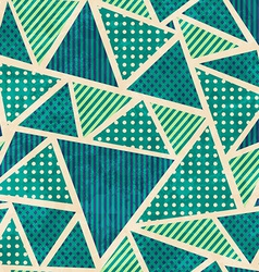 Green color fabric seamless pattern with grunge vector