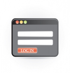 log in icon vector image