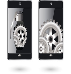 Mobile gears resize vector