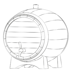 Beer barrel silhouette vector