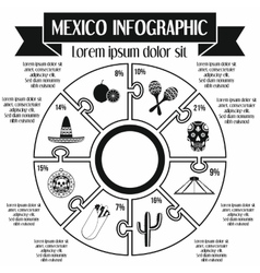 Mexico infographic elements simple style vector