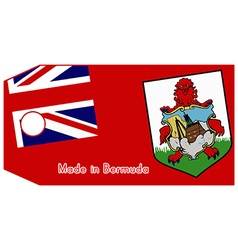 Bermuda flag on price tag vector