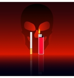 the harm of smoking vector image