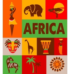 Africa - poster and background vector