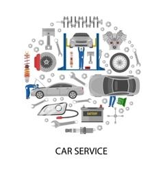 Auto service round design vector