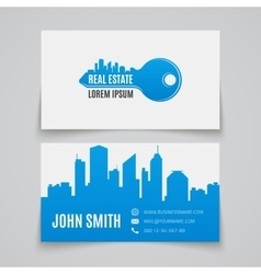 Business card template Real estate vector image