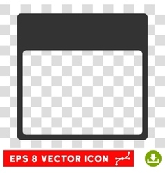 Calendar Page Template Eps Icon vector image