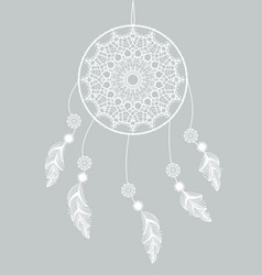 dreamcatcher with feathers vector image