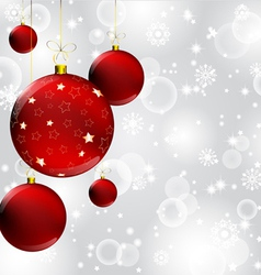 Fancy christmas baubles background vector