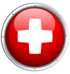 Flag of switzerland in round icon vector