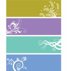 floral web banners vector image vector image