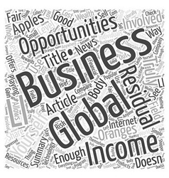 Global business opportunities word cloud concept vector