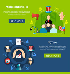 Government elections press conference concept vector