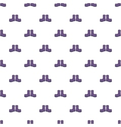Hunting rubber boots pattern cartoon style vector