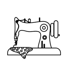 Isolated sewing machine vector image