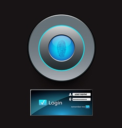 login button vector image vector image