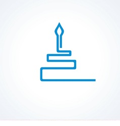 logo cake with candle vector image vector image