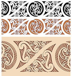 Maori styled seamless pattern vector image vector image