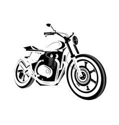 Moto bike icon cafe racer vector